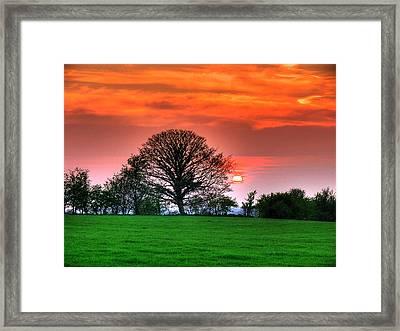 A Celtic Sunset Framed Print by Kim Shatwell-Irishphotographer