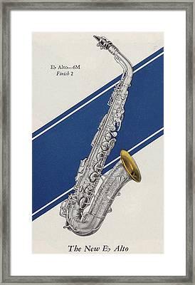 A Charles Gerard Conn Eb Alto Saxophone Framed Print by American School
