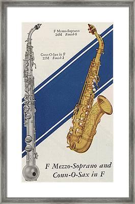 A Charles Gerard Conn F Mezzo-soprano Framed Print by American School