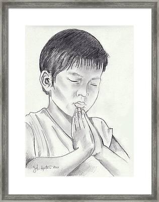 A Child's Prayer Framed Print by John Keaton