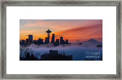 A City Emerges Framed Print by Mike Reid