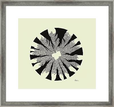 Looking Up At Trees Framed Print by Sreejith V