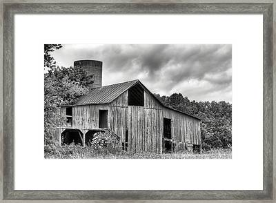 A Cloudy Day Bw Framed Print by JC Findley