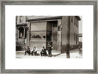 A Coal Miners Bar  George Ave Parsons Pennsylvania Early 1900s Framed Print by Arthur Miller