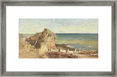 A Coastal Study Framed Print by George Hemming Mason