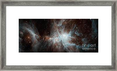 A Colony Of Hot Young Stars Framed Print by Stocktrek Images