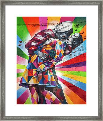 A Colorful Romance Framed Print by Az Jackson