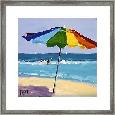 A Colorful Spot Framed Print by Debbie Miller