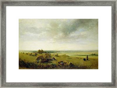 A Corn Field Framed Print by Peter de Wint