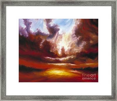 A Cosmic Storm - Genesis V Framed Print by James Christopher Hill