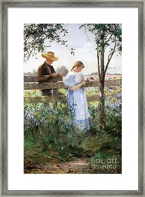 A Country Romance Framed Print by David B Walkley