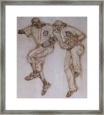 A Couple Of Tigers Framed Print by Dan LaTour