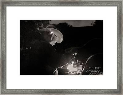 A Cowboys Dinner Framed Print by Sherry Davis