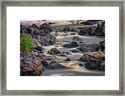 A Creek To The Side Framed Print by Rick Berk