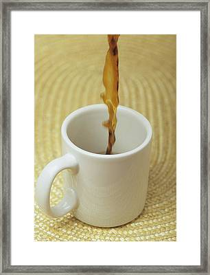 A Cup Of Energy Filled Coffee Is Poured Framed Print by Taylor S. Kennedy