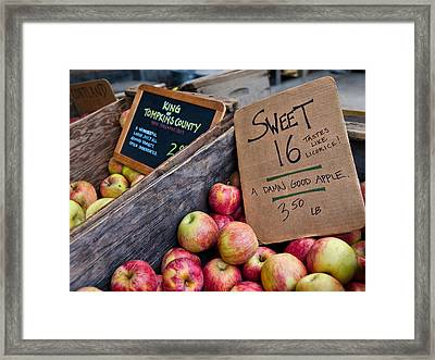 A Damn Good Apple Framed Print by Laura Ragland