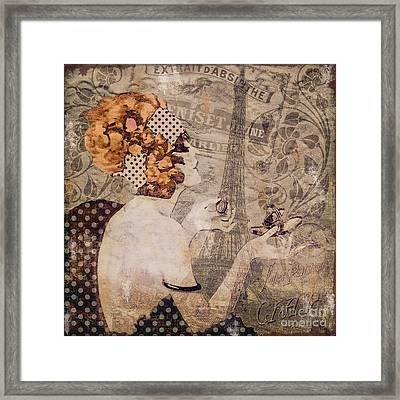 A Date With Paris II Framed Print by Mindy Sommers