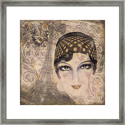 A Date With Paris Framed Print by Mindy Sommers