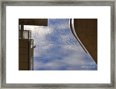A Day At The Getty Framed Print by Clayton Bruster