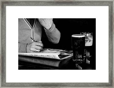 A Day At The Races Framed Print by Dawn OConnor