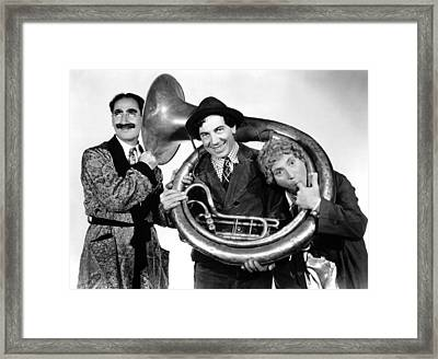 A Day At The Races, From Left Groucho Framed Print by Everett
