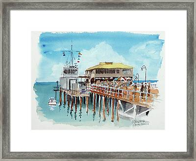 A Day At The Shore Framed Print by John Crowther