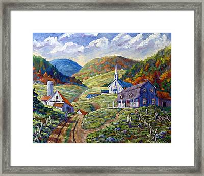 A Day In Our Valley Framed Print by Richard T Pranke