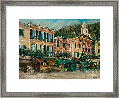 A Day In Portofino Framed Print by Charlotte Blanchard