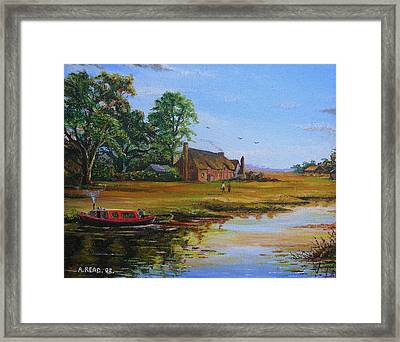 A Day On The Canal Framed Print by Andrew Read