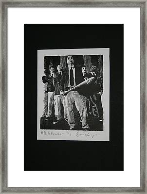 A Day To Remember Framed Print by Ryan Flanagan