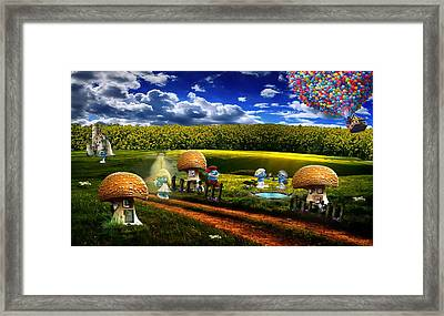 A Day With The Smurfs Framed Print by Mountain Dreams