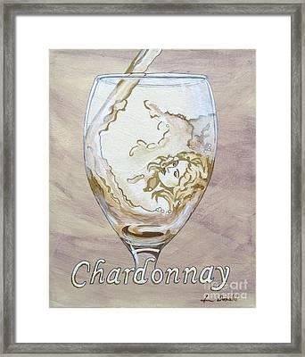 A Day Without Wine - Chardonnay Framed Print by Jennifer  Donald