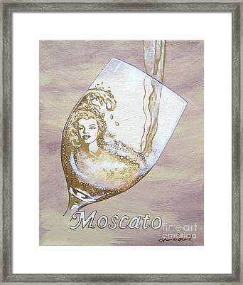 A Day Without Wine - Moscato Framed Print by Jennifer  Donald