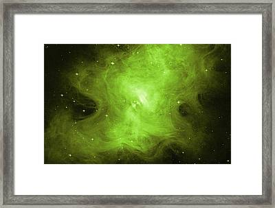 A Death Star's Ghostly Glow Framed Print by Nasa