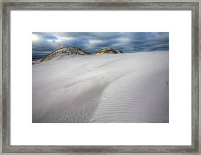 A Destin White Out Framed Print by JC Findley