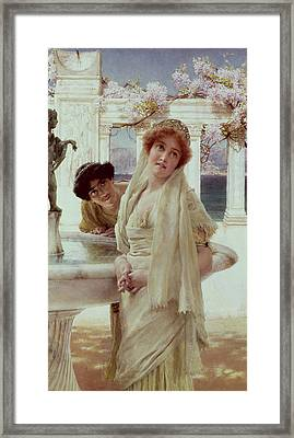 A Difference Of Opinion Framed Print by Sir Lawrence Alma-Tadema