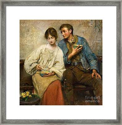 A Dinner Of Herbs Framed Print by George William