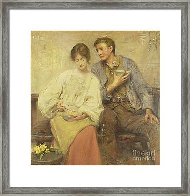 A Dinner Of Herbs  Framed Print by George William Joy
