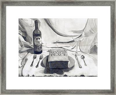 A Dinner Setting Framed Print by Benjamin Winans