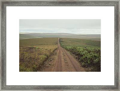 A Dirt Road Leading To The Horizon Framed Print by Bill Curtsinger