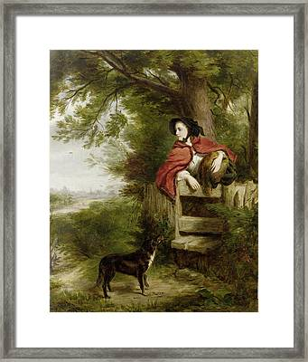 A Dream Of The Future Framed Print by William Powell Frith