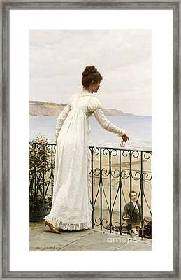 A Favour Framed Print by Edmund Blair Leighton