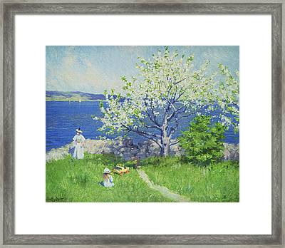 A Fjord Near Oslo Framed Print by Paul Fischer