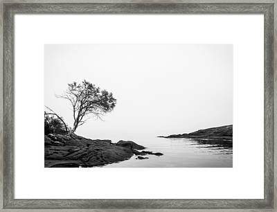 A Foreboding Tasman Inlet Framed Print by Justin Woodhouse