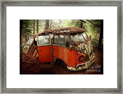 A Forgotten 23 Window Vw Bus  Framed Print by Michael David Sorensen