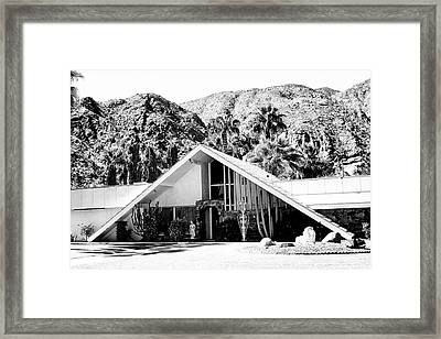 A Frame Bw Palm Springs Framed Print by William Dey