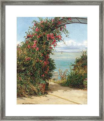 A Garden By The Sea  Framed Print by Frank Topham