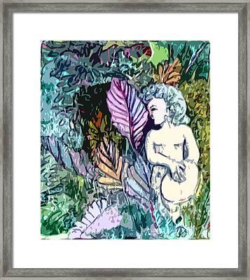 A Garden Muse Framed Print by Mindy Newman