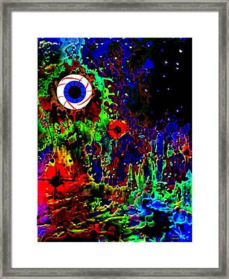 Someplace Somewhere Framed Print by Larry E Lamb