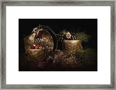 A Gathering Of Pine Framed Print by Tom Mc Nemar
